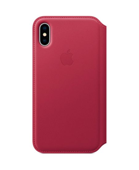 Чехол для iPhone Apple iPhone X Leather Folio Berry